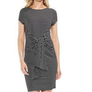 Vince Camuto Striped Tie Front Dress
